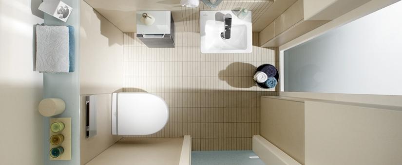 Descubre cómo aprovechar todo el espacio en cuartos de baño pequeños