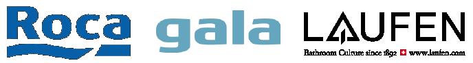 Logotipos Roca, Gala y Laufen