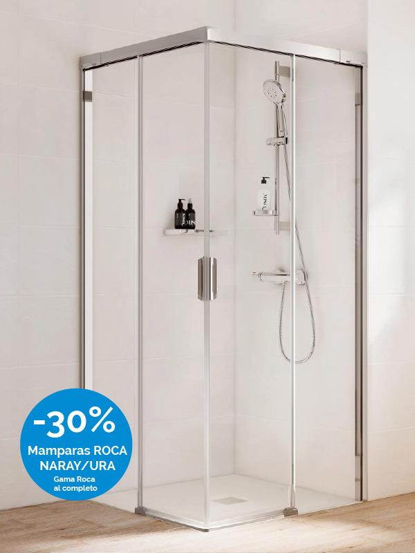 Mamparas de ducha ROCA con descuento Laguardia & Moreira